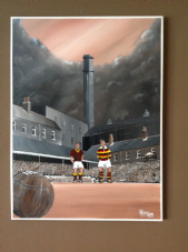 Wool City Rivals - Bfd City v Bfd Park Avenue Memory Original artwork on box canvas size 90cm x 75cm